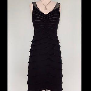 Eliza J Illusion Top Little Black Dress Size 8